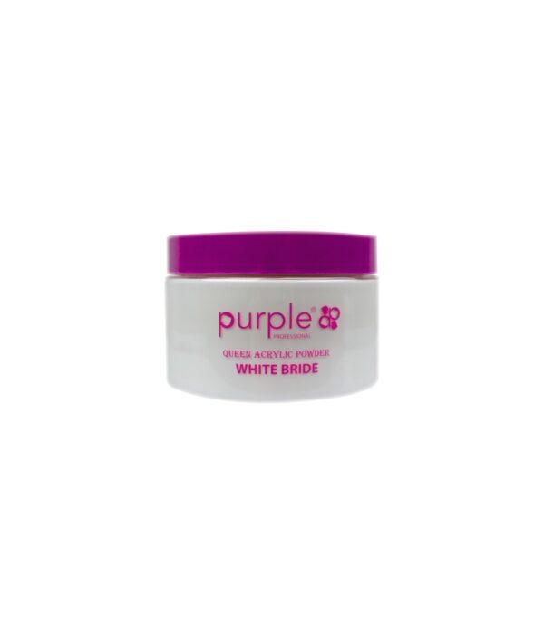 polvo acrilico white bride purple